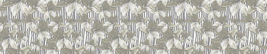 Изображение для стеклянного кухонного фартука, скинали: цветы, паттерн, patneit020
