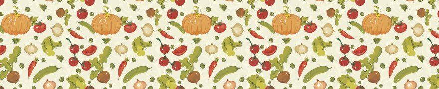 Изображение для стеклянного кухонного фартука, скинали: паттерн, овощи, patneit093