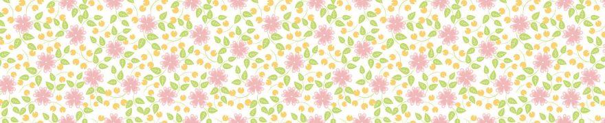 Изображение для стеклянного кухонного фартука, скинали: цветы, паттерн, patsvet011