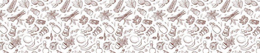 Изображение для стеклянного кухонного фартука, скинали: паттерн, специи, patsvet017