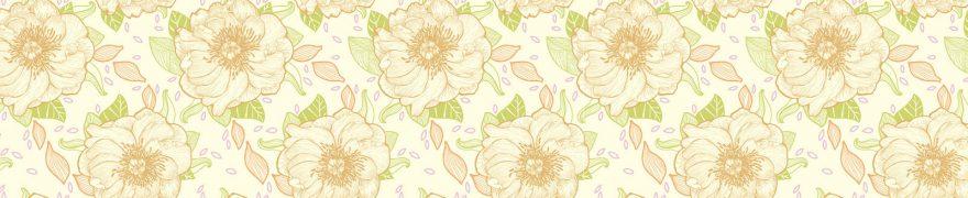 Изображение для стеклянного кухонного фартука, скинали: цветы, паттерн, patsvet024