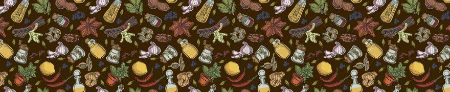 Изображение для стеклянного кухонного фартука, скинали: паттерн, специи, pattemn033