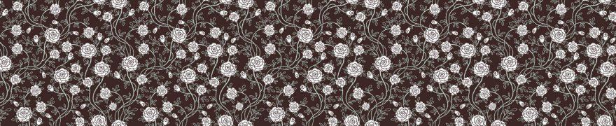 Изображение для стеклянного кухонного фартука, скинали: цветы, паттерн, орнамент, pattemn044