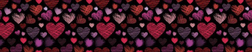 Изображение для стеклянного кухонного фартука, скинали: паттерн, текстура, сердце, pattemn049