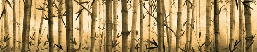 Изображение для стеклянного кухонного фартука, скинали: бамбук, rastcve022