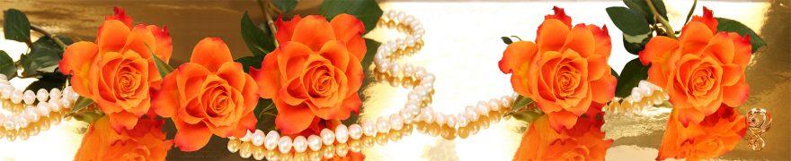 Изображение для стеклянного кухонного фартука, скинали: цветы, розы, жемчуг, rastcve029