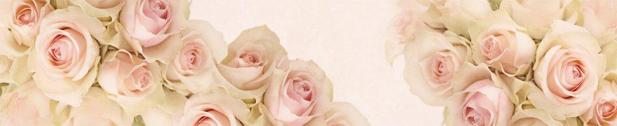 Изображение для стеклянного кухонного фартука, скинали: цветы, розы, rastcve056