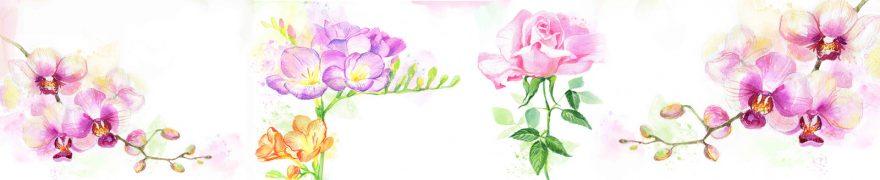 Изображение для стеклянного кухонного фартука, скинали: цветы, rastcve085