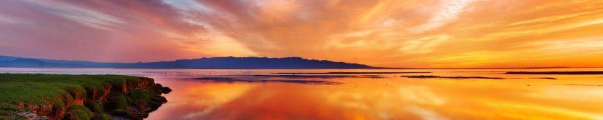 Изображение для стеклянного кухонного фартука, скинали: закат, небо, море, skin101