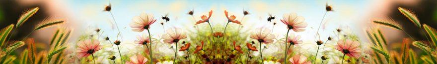 Изображение для стеклянного кухонного фартука, скинали: цветы, пшеница, skin109