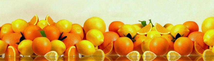 Изображение для стеклянного кухонного фартука, скинали: фрукты, апельсины, skin166