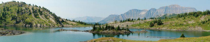 Изображение для стеклянного кухонного фартука, скинали: природа, лес, горы, река, skin179
