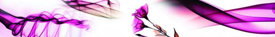 Изображение для стеклянного кухонного фартука, скинали: цветы, абстракция, skin222