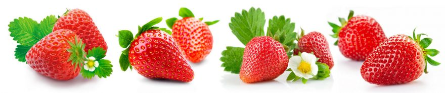 Изображение для стеклянного кухонного фартука, скинали: ягоды, клубника, skin250