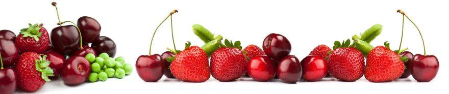 Изображение для стеклянного кухонного фартука, скинали: ягоды, клубника, вишня, skin251