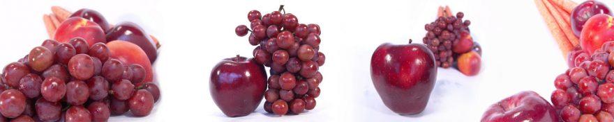 Изображение для стеклянного кухонного фартука, скинали: фрукты, яблоки, виноград, skin255