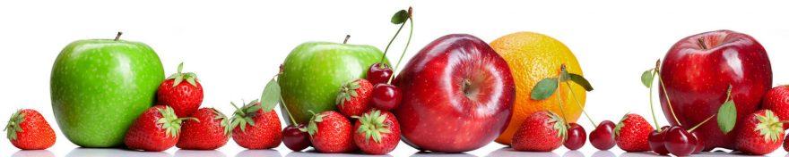 Изображение для стеклянного кухонного фартука, скинали: фрукты, ягоды, skin257