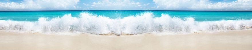 Изображение для стеклянного кухонного фартука, скинали: море, пляж, волны, skin282