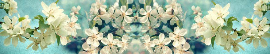 Изображение для стеклянного кухонного фартука, скинали: цветы, яблоня, skin290