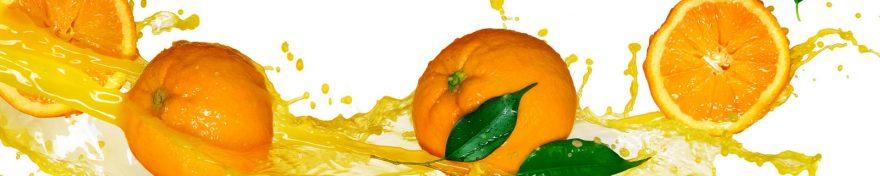 Изображение для стеклянного кухонного фартука, скинали: фрукты, апельсины, skin318