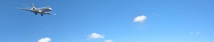 Изображение для стеклянного кухонного фартука, скинали: небо, самолет, skin336
