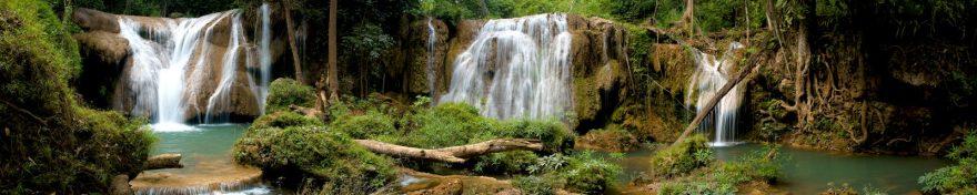 Изображение для стеклянного кухонного фартука, скинали: водопад, джунгли, skin390