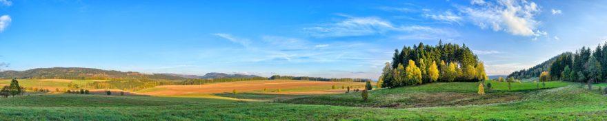 Изображение для стеклянного кухонного фартука, скинали: поле, природа, небо, деревья, skin402