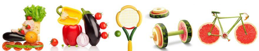 Изображение для стеклянного кухонного фартука, скинали: фрукты, овощи, skin458