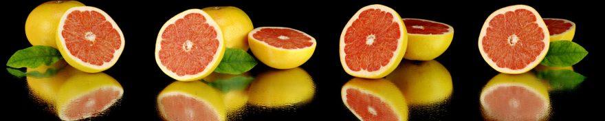 Изображение для стеклянного кухонного фартука, скинали: фрукты, грейпфрут, skin472