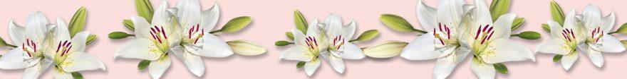 Изображение для стеклянного кухонного фартука, скинали: цветы, лилии, skin474