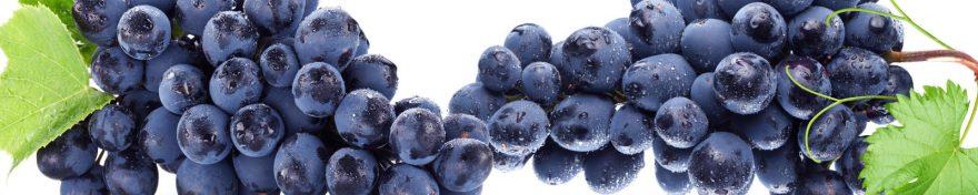 Изображение для стеклянного кухонного фартука, скинали: фрукты, виноград, skin520