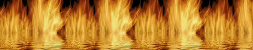 Изображение для стеклянного кухонного фартука, скинали: огонь, skin80
