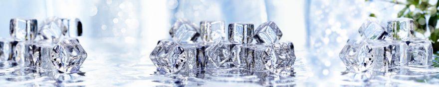 Изображение для стеклянного кухонного фартука, скинали: вода, лед, skin88