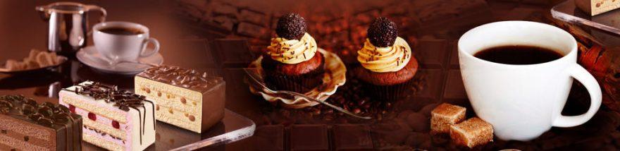 Изображение для стеклянного кухонного фартука, скинали: посуда, кружка, еда, сладости, skinap101