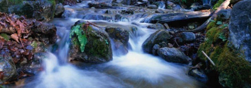 Изображение для стеклянного кухонного фартука, скинали: камни, водопад, skinap13