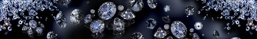 Изображение для стеклянного кухонного фартука, скинали: бриллиант, skinap141