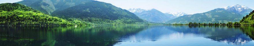 Изображение для стеклянного кухонного фартука, скинали: природа, горы, озеро, skinap148