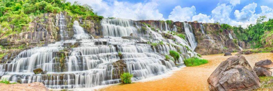 Изображение для стеклянного кухонного фартука, скинали: природа, водопад, skinap152