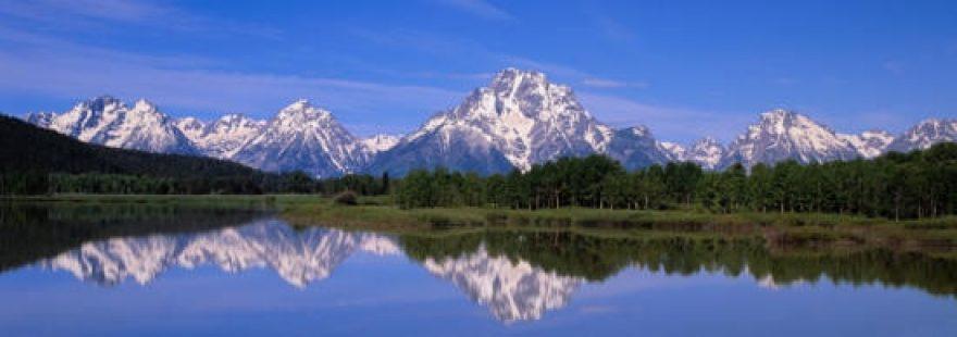 Изображение для стеклянного кухонного фартука, скинали: природа, лес, горы, озеро, skinap20