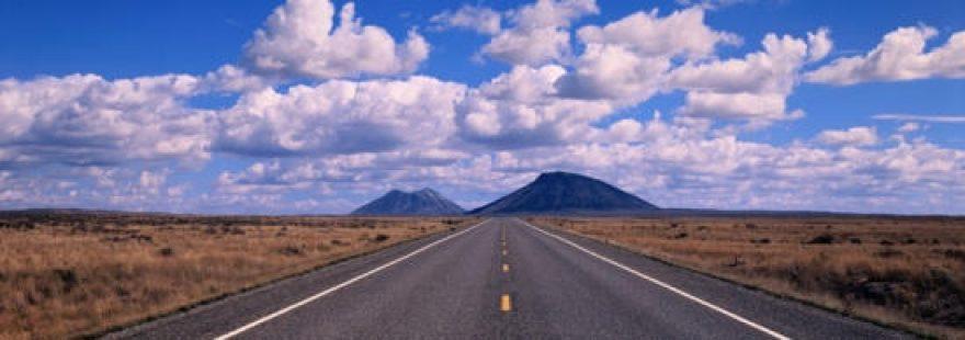 Изображение для стеклянного кухонного фартука, скинали: небо, горы, облака, дорога, skinap21