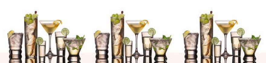 Изображение для стеклянного кухонного фартука, скинали: напитки, лед, стаканы, skinap26