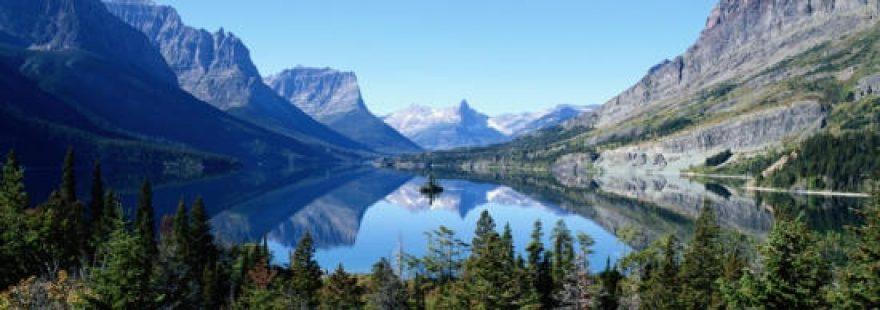 Изображение для стеклянного кухонного фартука, скинали: природа, лес, горы, озеро, skinap2