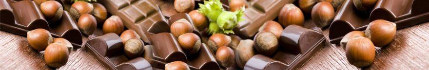 Изображение для стеклянного кухонного фартука, скинали: шоколад, орехи, skinap47