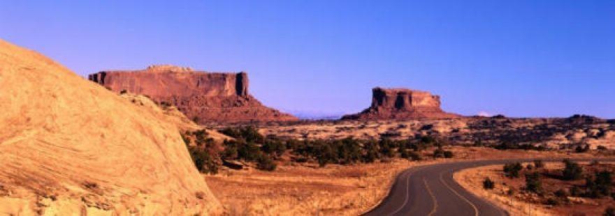 Изображение для стеклянного кухонного фартука, скинали: горы, дорога, каньон, skinap6