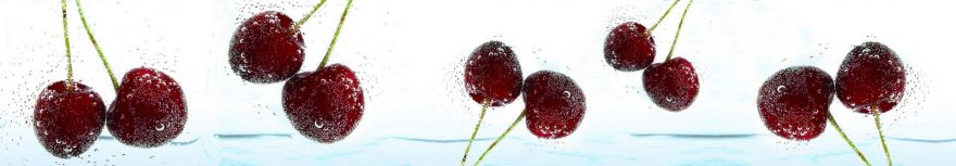 Изображение для стеклянного кухонного фартука, скинали: ягоды, вишня, skinap96