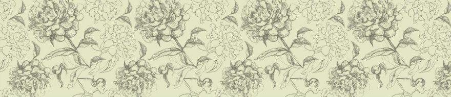Изображение для стеклянного кухонного фартука, скинали: цветы, skinv54