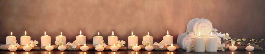 Изображение для стеклянного кухонного фартука, скинали: спа, свечи, spaimag004