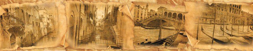 Изображение для стеклянного кухонного фартука, скинали: коллаж, город, архитектура, винтаж, италия, vintazh002