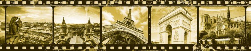 Изображение для стеклянного кухонного фартука, скинали: коллаж, город, архитектура, винтаж, париж, vintazh007