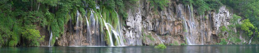 Изображение для стеклянного кухонного фартука, скинали: горы, водопад, vodopad001